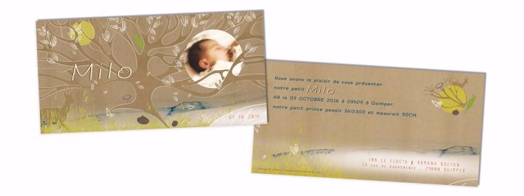 Faire-part de naissance original personnalisé - Sur commande