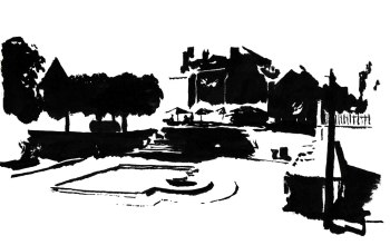 Blois (encre de chine, pinceau)