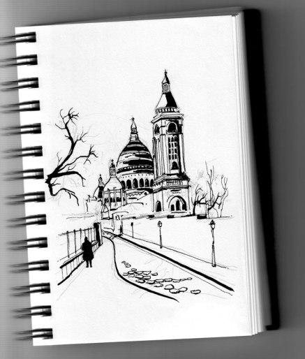 Montmartre (encre de chine, plume)