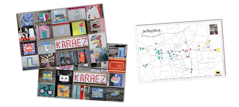 Cartes postales pour l'association La fourmi , format 148 × 105 mm (Carnoët (22))