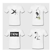 Visuels personnalisés pour t-shirts - Sur commande